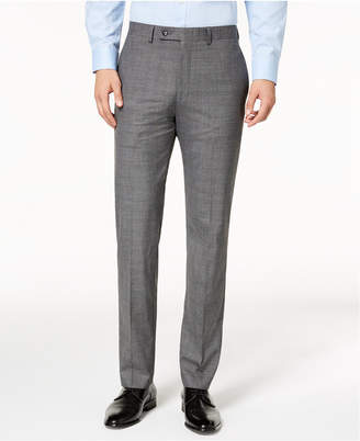 Calvin Klein Men Slim-Fit Stretch Plaid Dress Pants