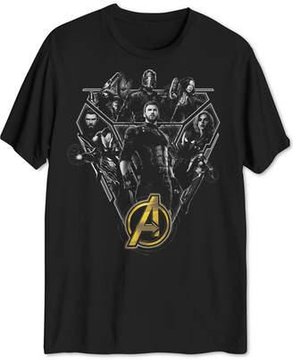 Hybrid Marvel Avengers Assemble Men's Graphic T-Shirt