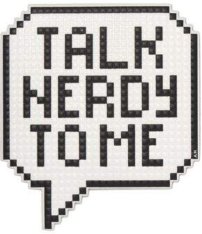 Anya Hindmarch Talk Nerdy To Me Printed Textured-Leather Sticker