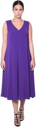Marina Rinaldi V Neck Stretch Jersey Dress