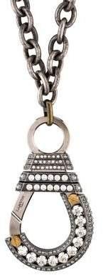 Lanvin Crystal Clasp Pendant Necklace