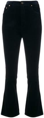 Miu Miu flared cropped corduroy trousers