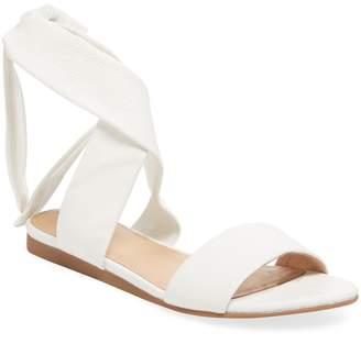 ALEX+ALEX Women's Flat Ankle-Wrap Sandal