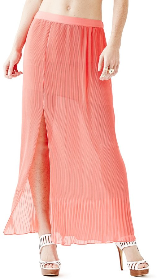 GUESS Pleated Maxi Skirt