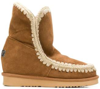 Mou knitted detail eskimo boots