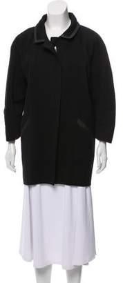 Isabel Marant Leather-Trimmed Short Coat