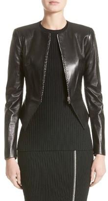 Women's Michael Kors Lambskin Leather Peplum Jacket $1,950 thestylecure.com