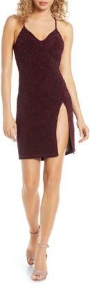 Sequin Hearts Glitter Body-Con Dress