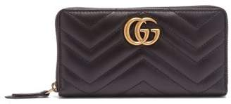 Gucci Gg Marmont Continental Wallet - Womens - Black