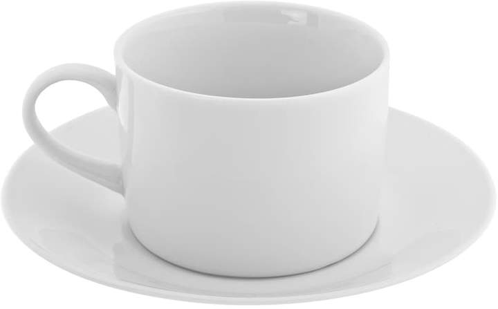 10 Strawberry Street Royal White 12-pc. Cup and Saucer Set