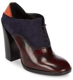 Jil Sander Mixed Media High Heel Oxford Shoes