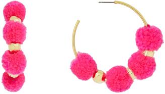 BaubleBar 31908 Havana Hoops-Hot Pink