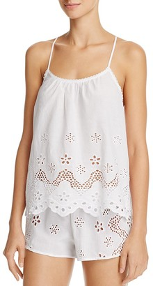 In Bloom by Jonquil Eyelet Cotton Cami Tap Set $54 thestylecure.com