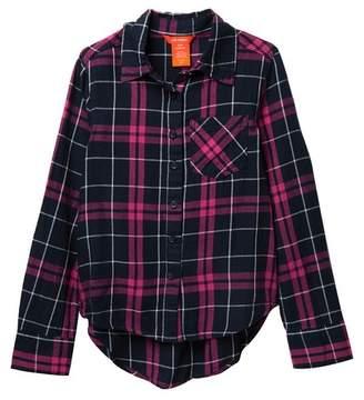 Joe Fresh Plaid Long Sleeve Shirt (Big Girls)