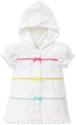 Little Me Hooded Bows Coverup, Baby Girls