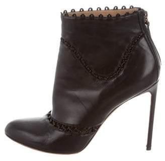Francesco Russo Cutout Ankle Boots Black Cutout Ankle Boots