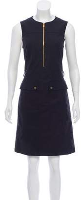 Michael Kors Zip-Accented Knee-Length Dress
