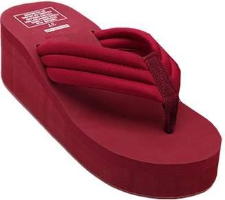 e3b1476f71d5 ANBOVER Womens High Wedge Beach Sandals Summer Thong Flip Flops Platform -38