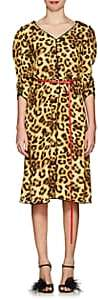 Marc Jacobs Women's Leopard-Print Belted Midi-Dress - Yellow Multi