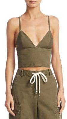 Alexander Wang Cargo Cotton Bra Top