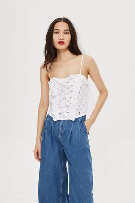 Topshop Broderie Trim Camisole Top