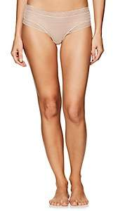 Eres Women's Stripes Coquette Lace Thong - Beige, Tan