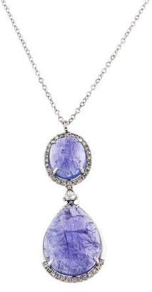 Rina Limor Fine Jewelry 18K Tanzanite & Diamond Pendant Necklace