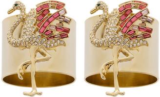 Joanna Buchanan Flamingo Napkin Ring - Set of 2 - Pink