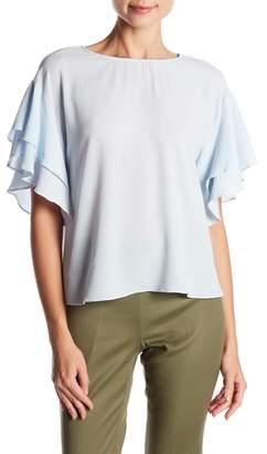 Vince Camuto Drop Shoulder Ruffle Sleeve Blouse (Regular & Petite)