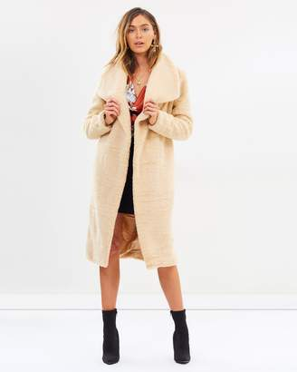 Missguided Waterfall Teddy Coat