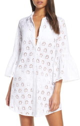 Lilly Pulitzer Gala Cotton Eyelet Shirtdress Cover-Up