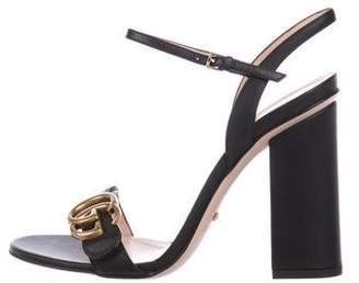 cd092bfbecf Gucci GG Marmont Ankle Strap Sandals