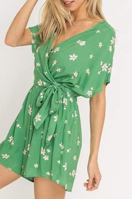 Lush Clothing Floral Print Romper