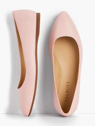 Talbots Poppy Pointed-Toe Ballet Flats - Nappa Leather