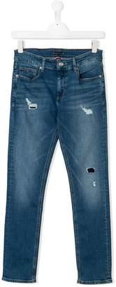 Tommy Hilfiger Junior slim distressed jeans