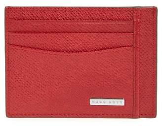 BOSS Signature Leather Card Case