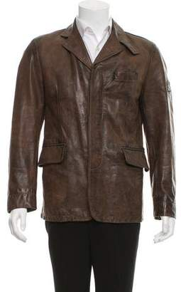 Belstaff Distressed Leather Jacket