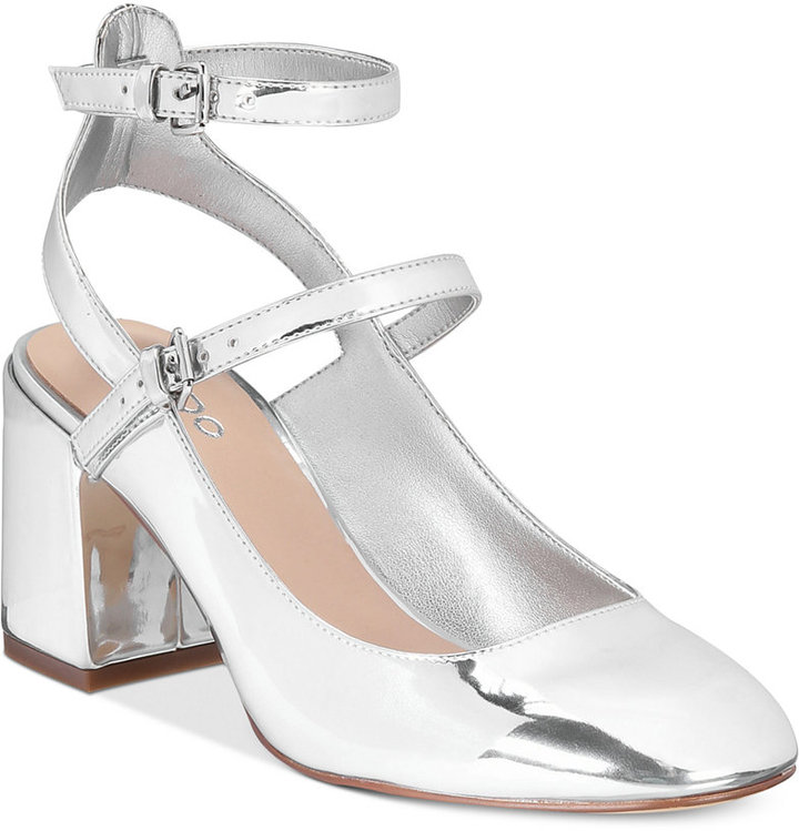 Aldo Women's Pergine Round Block-Heel Pumps Women's Shoes
