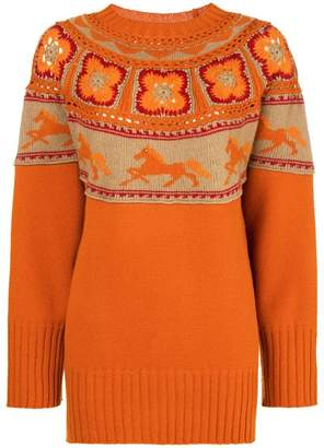 Alberta Ferretti crochet knit jumper