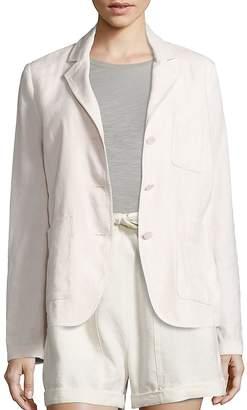 Vince Women's Linen & Silk Blend Three-Button Blazer