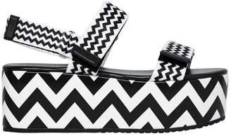 Katy Perry 70mm Zoey Nylon Webbing Wedge Sandals