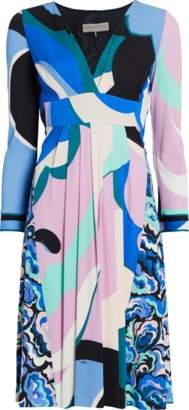 Emilio Pucci Macro Pop Flower Wrap Dress