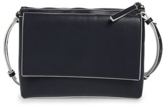 French Connection Callie Faux Leather Crossbody Bag - Blue $88 thestylecure.com