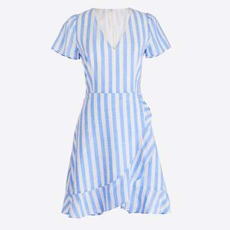 J.Crew Factory Striped faux-wrap dress