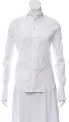 Ralph Lauren Black Label Long Sleeve Button-Up Top