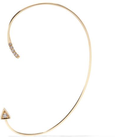 Jennie Kwon Designs - Mini Dagger 14-karat Gold Diamond Ear Cuff