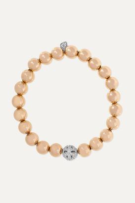 Sydney Evan Butterfly 14-karat Yellow And White Gold Diamond Bracelet