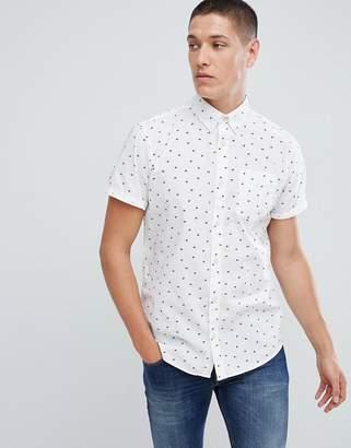 Jack and Jones Originals Short Sleeve Shirt In All Over Ditsy Print
