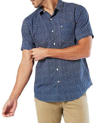 Dockers Short-Sleeve Washed Poplin Sport Shirt