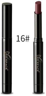 NICEFACE Lip Gloss, 8 Colors Matte Lipstick Pencil Waterproof Matte Lipstick Nude Lip Gloss